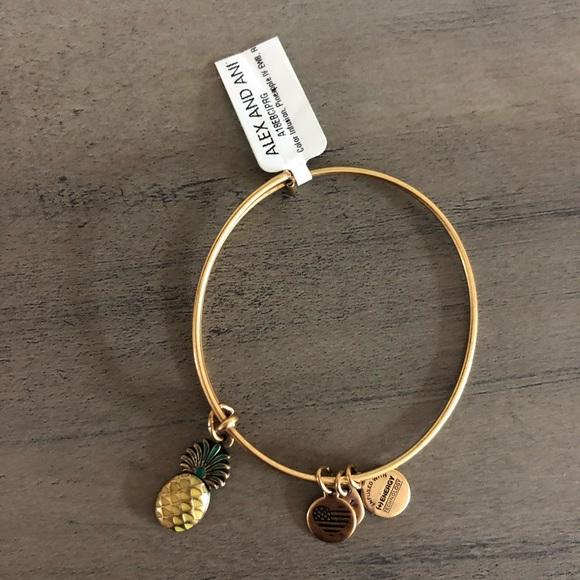 Alex and Ani Jewelry - Alex & Ani pineapple gold bracelet
